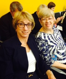 Penny Hartin, President and CEO, World Blind Union and Andria Spindel, CEO, March of Dimes Canada